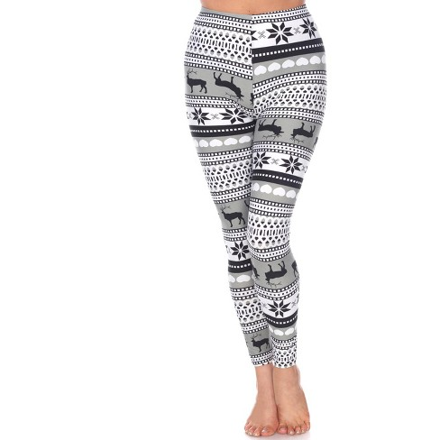 Women's One Size Fits Most Printed Leggings - One Size Fits Most - White Mark - image 1 of 3