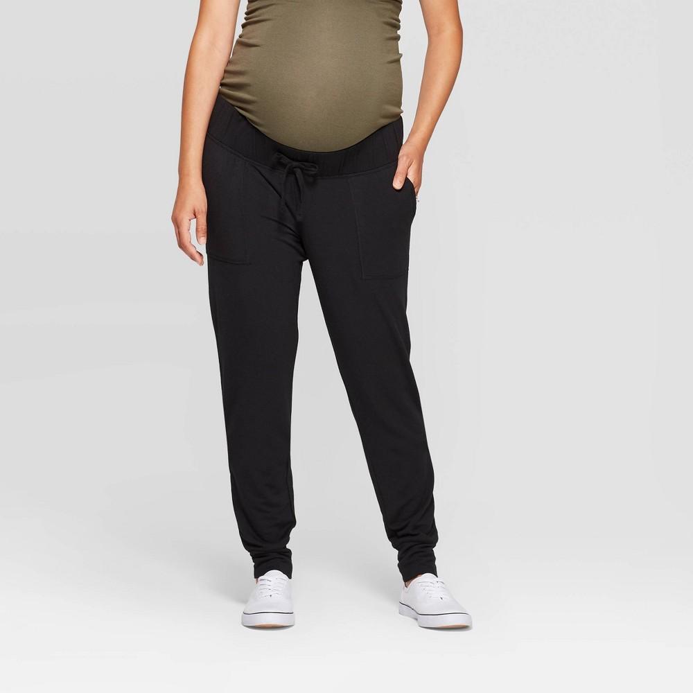 Maternity Mid Rise Drapey Jogger Pants Isabel Maternity By Ingrid 38 Isabel 8482 Black Xs