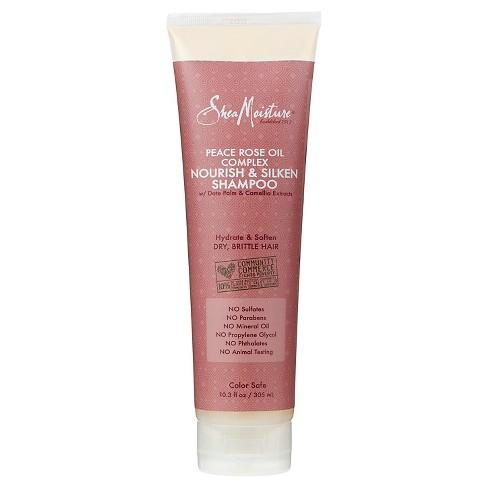SheaMoisture Peace Rose Oil Complex Nourish & Silken Shampoo - 10.3 fl oz - image 1 of 1