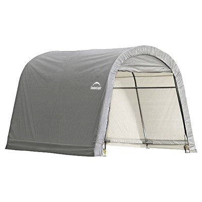 Superbe 10 X 10 X 8 Roundtop Storage Shed   Gray   Helter Logic