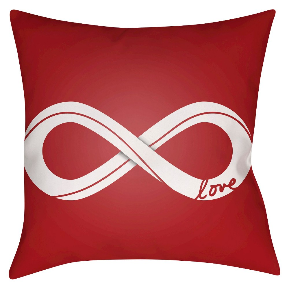 Red Infinite Love Throw Pillow 14