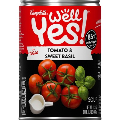 Campbell's Well Yes! Tomato Basil Bisque Lightly Salted - 16.3 fl oz