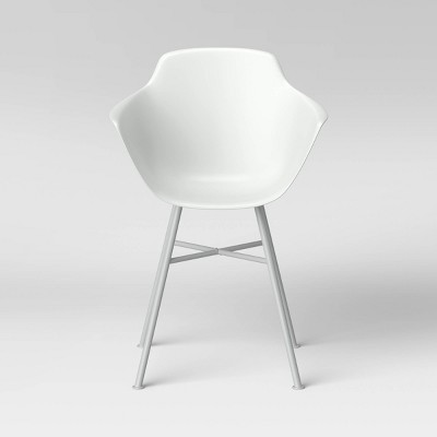 Miller Barrel Dining Chair with Metal Legs White - Project 62™