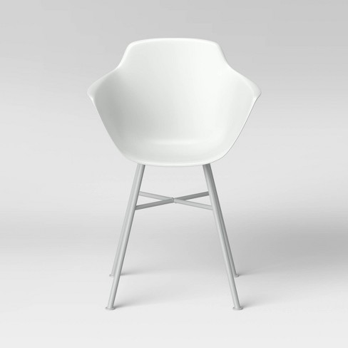 Miller Barrel Dining Chair with Metal Legs White - Project 62™ - image 1 of 4