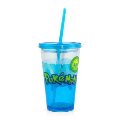 Just Funky Pokemon Carnival Cup With Glitter and Confetti Featuring Squirtle 16oz.