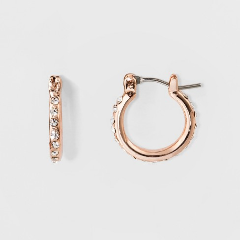 Drop Hoop Earrings - A New Day™ Rose Gold - image 1 of 1