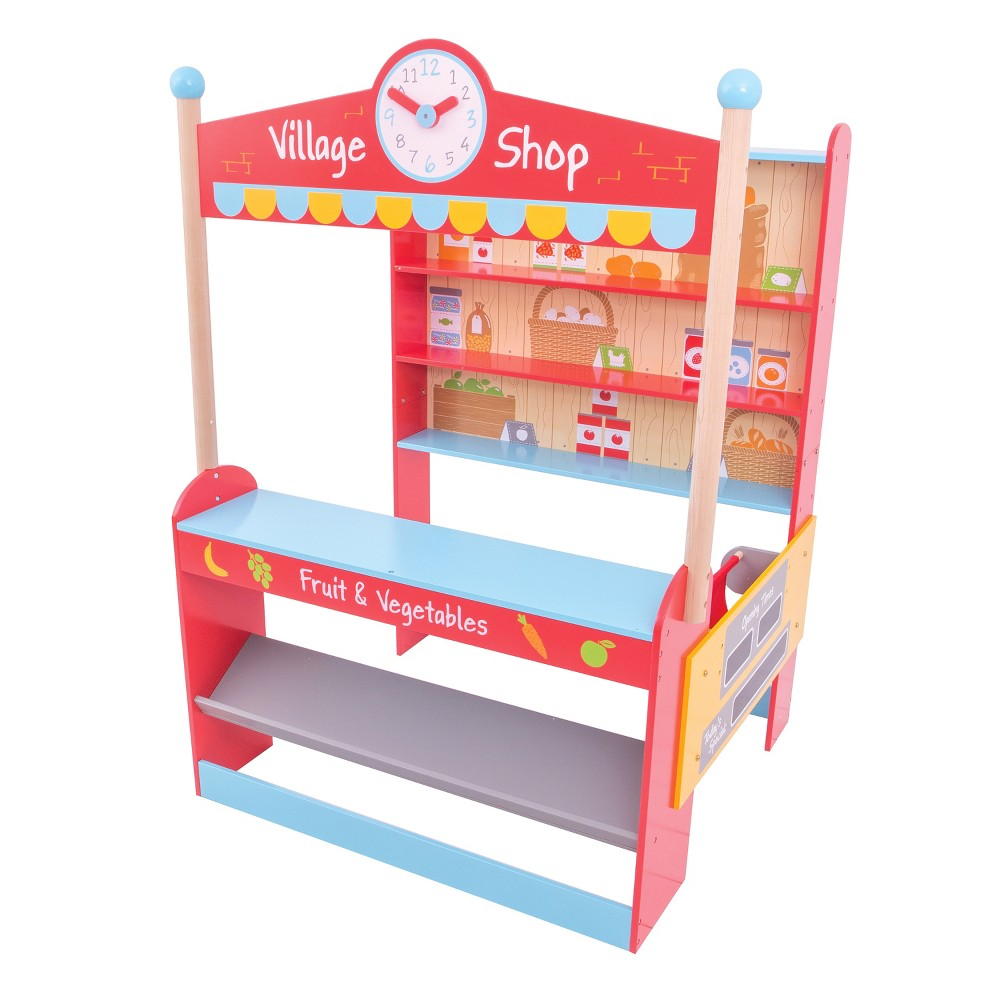 Bigjigs Toys Village Shop Wooden Role Play Toy