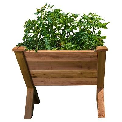 "37.5"" x 34"" x 33.5"" ECO Rectangular Garden Wedge - Western Red Cedar - Gronomics"