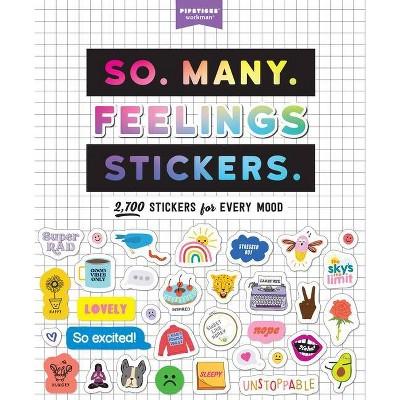 So. Many. Feelings Stickers. - (Pipsticks+workman) (Paperback)