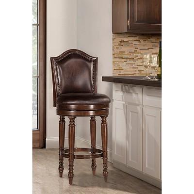 "30"" Barcelona Swivel Barstool Wood/Cherry - Hillsdale Furniture"