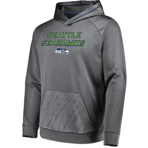 competitive price f53f8 5e8ba NFL Seattle Seahawks Men's Geo Fuse Gray Embossed Performance Hoodie
