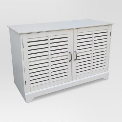 Shuttered Door TV Stand - White - Threshold™