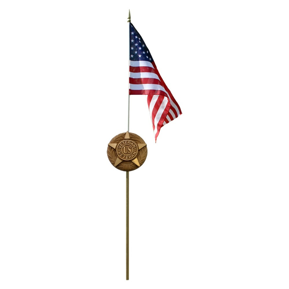 Image of Halloween American Flag Grave Marker Set