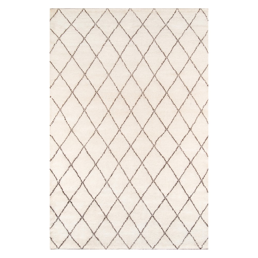 5'X8' Trellis Knotted Area Rug Ivory - Momeni