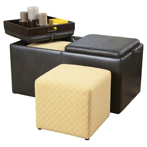 Hodan Ottoman With Storage Marble - Signature Design by Ashley - image 1 of 3
