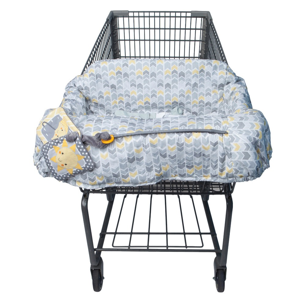 Boppy Baby Chevron Pattern Shopping Cart Cover - Gray