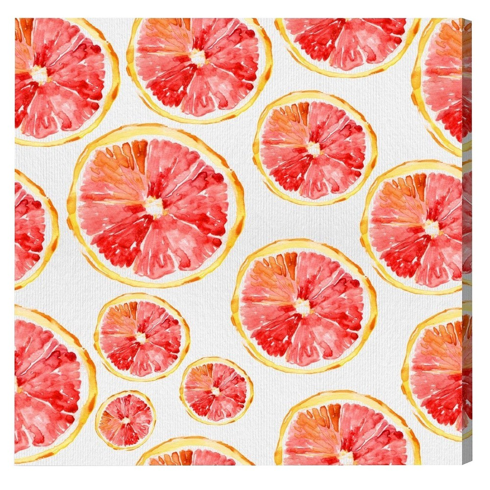 "Image of ""Oliver Gal Unframed Wall """"Red Orange"""" Canvas Art (20x20)"""