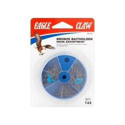 Eagle Claw Bronze Baitholder Hook Assortment