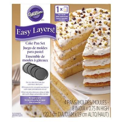 Wilton 4pc Easy Layers! Round Layer Cake Pan Set