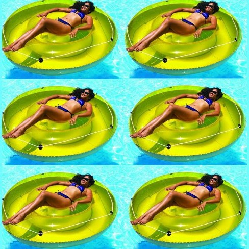 """Swimline 9050 72"""" Swimming Pool Sun Tan Lounger Island Float Inflatables, 6-Pack - image 1 of 4"""