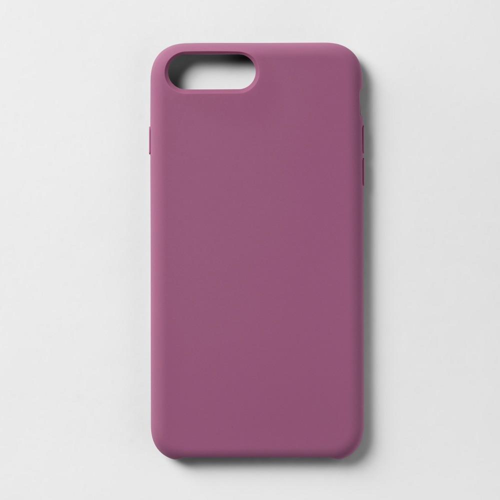 heyday Apple iPhone 8 Plus/7 Plus/6s Plus/6 Plus Silicone Case - Mauve, Pink