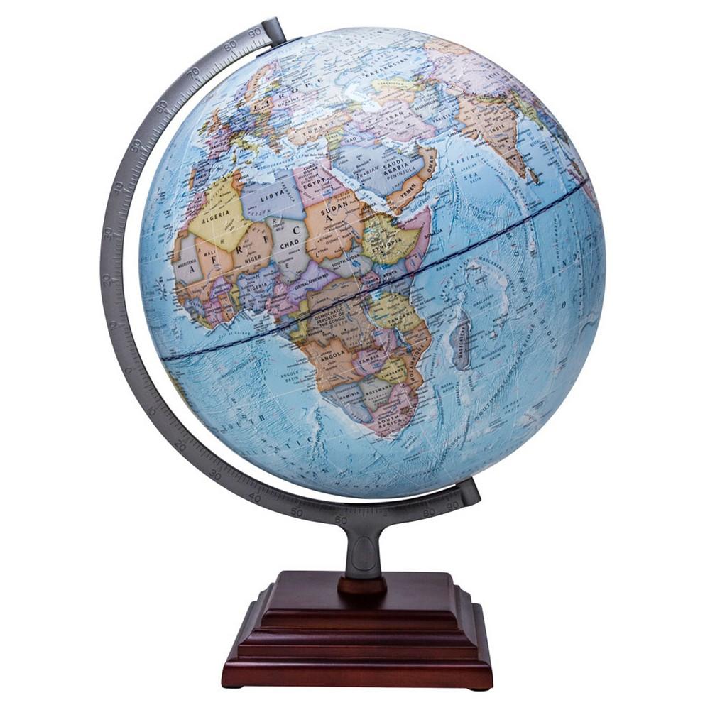 Waypoint Geographic Odyssey II Illuminated Desktop Globe, Aquarium Blue
