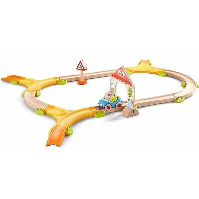 HABA Kullerbu Kringel Roundabout Play Track - 28 Piece Modular Starter Set