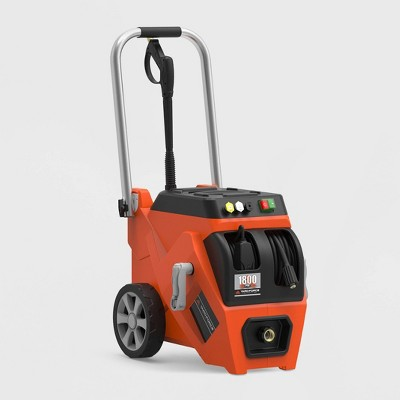 19  1800psi Electric Pressure Washer With Live Hose Reel And Turbo Nozzle - Yard Force