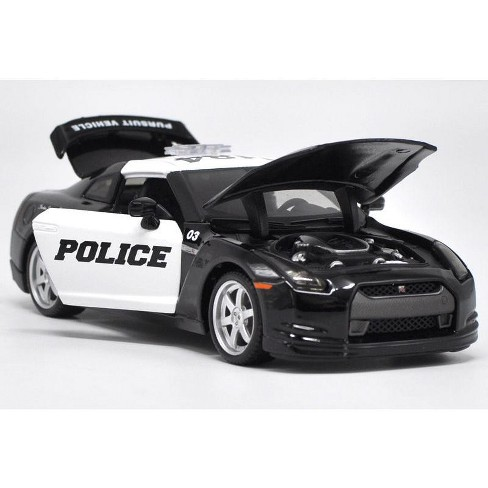 2009 Nissan Gt R R35 Police Car Black And White 1 Target