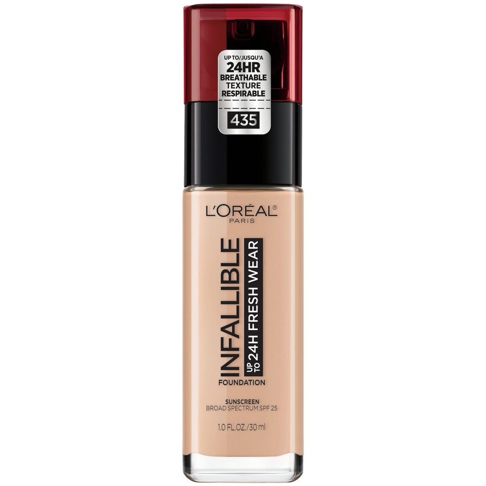 Image of Infallible 24HR Fresh Wear Foundation 435 Rose Vanilla - 0.17 fl oz, Pink White 435