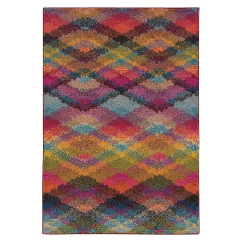 Intersecting Chevron Area Rug - Multi (6'x9') - image 1 of 1