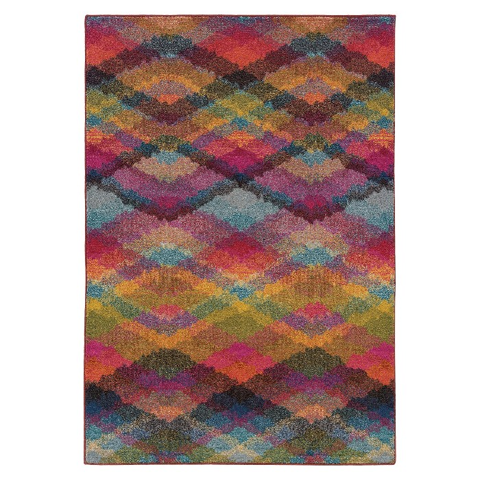 Intersecting Chevron Rug - Multi - image 1 of 1