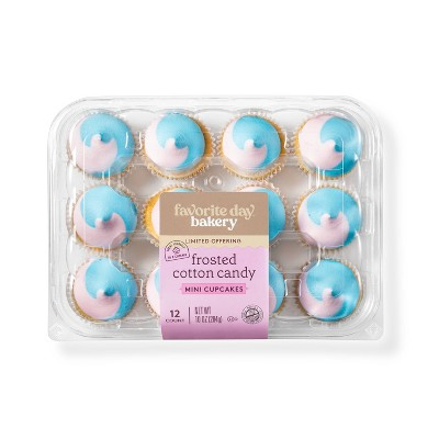 Cotton Candy Mini Cupcakes - 12ct - Favorite Day™