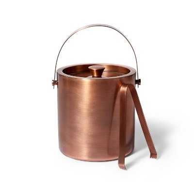 93oz Double Wall Stainless Steel Ice Bucket with Tongs Copper Finish - Levi's® x Target