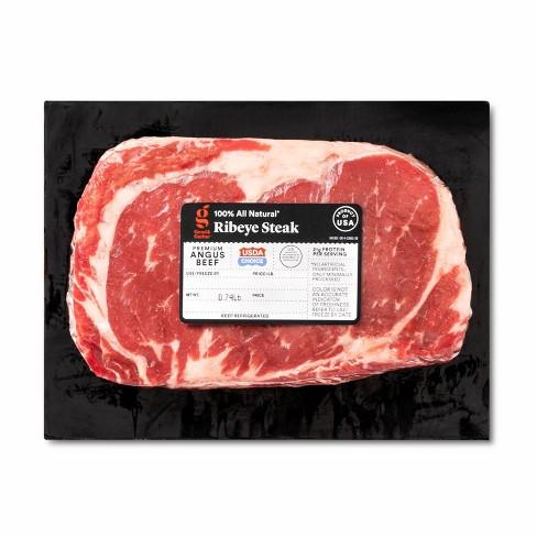 USDA Choice Angus Beef Ribeye Steak - 0.68-1.13 lbs - price per lb - Good & Gather™ - image 1 of 2