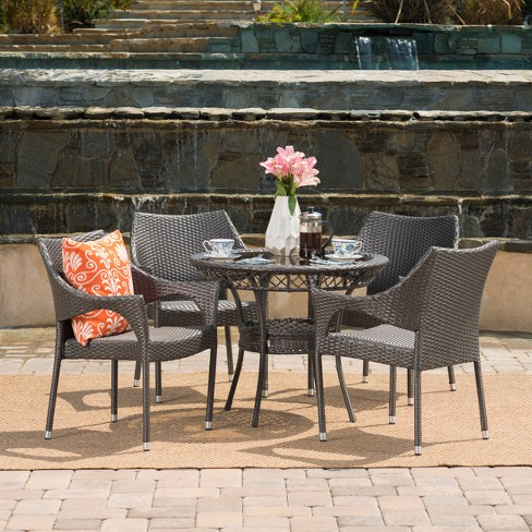 Mirage 5pc Wicker Patio Dining Set - Christopher Knight Home - image 1 of 4