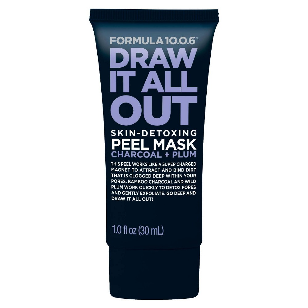 Image of Formula 10.0.6 Draw It All Out Skin Detoxing Peel Mask - Charcoal + Plum - 1 fl oz
