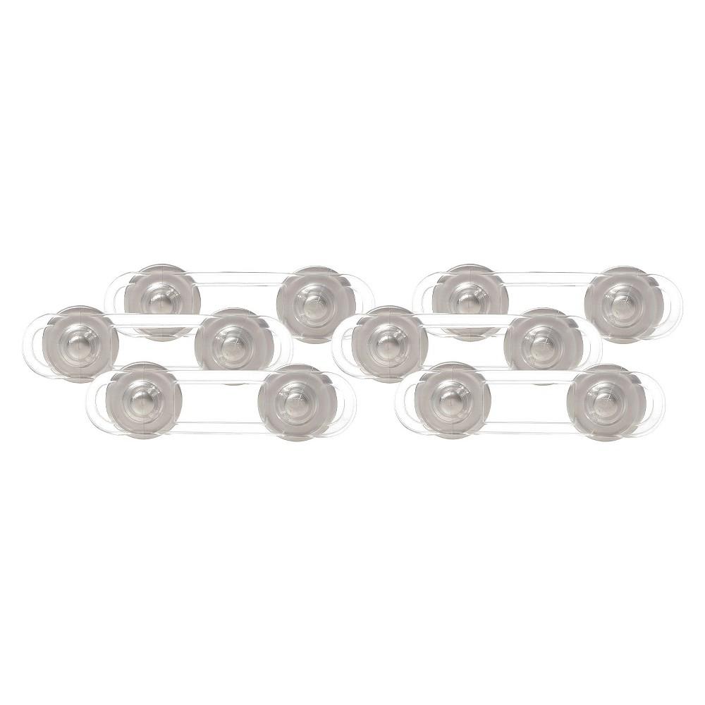 Dreambaby Mini Multi-Purpose Lock - Clear/Silver 6 Pack