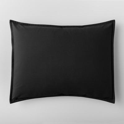 Black Solid Sham (Standard)- Made By Design™