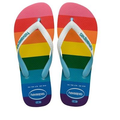 Havaianas - Women's Top Pride Sole Flip Flop Sandal - Rainbow Sole