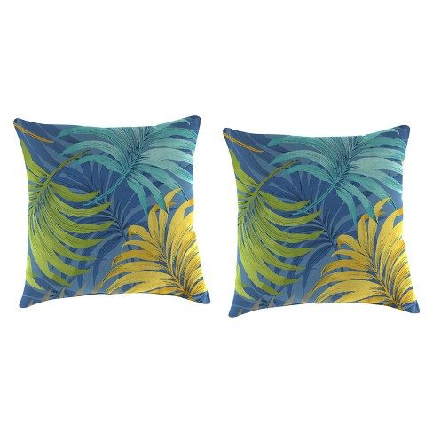 Outdoor Set Of 2 Accessory Toss Pillows In Laperta Caribbean - Jordan Manufacturing - image 1 of 2