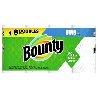 Bounty Select-A-Size Paper Towels - 4 Double Rolls