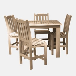 5pc Lehigh Square Counter Height Patio Dining Set - highwood