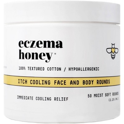 Eczema Honey Cooling Face and Body Rounds - 50ct