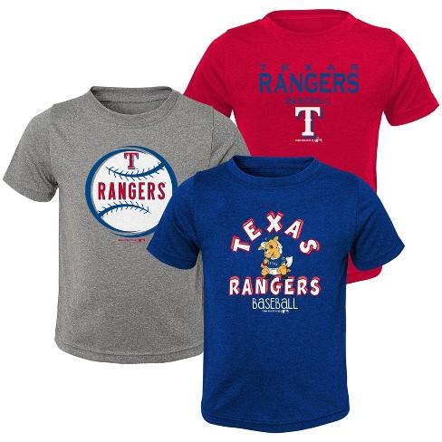 MLB Texas Rangers Toddler Boys' Gray T-Shirt 3pk - image 1 of 4