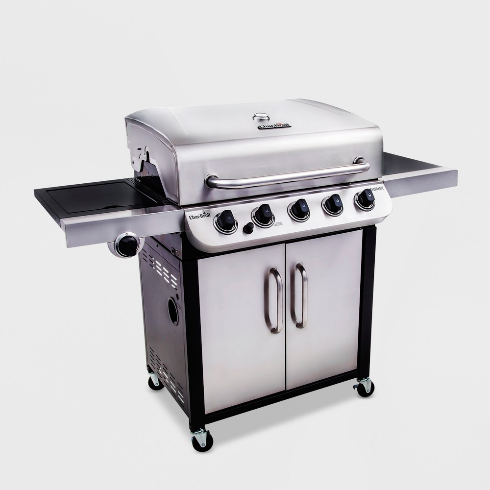 Char-Broil Performance 550 5 – Burner Cabinet 45,000 Btu Gas Grill with Side Burner, Silver 51397377