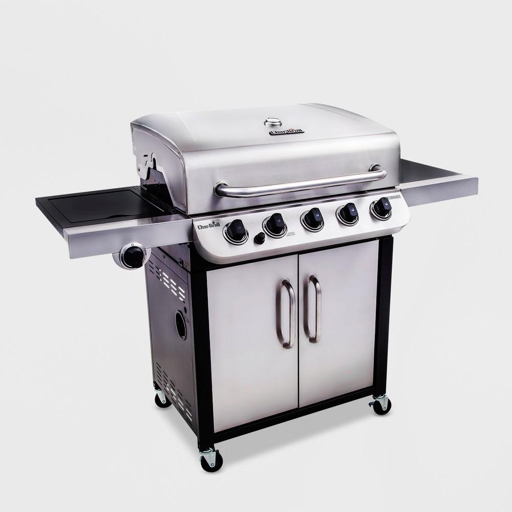 Char-Broil Performance 550 5 – Burner Cabinet 45,000 Btu Gas Grill with Side Burner, Silver 51397377