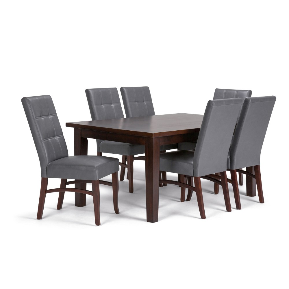 7pc Hawthorne Solid Hardwood Dining Set Stone Gray - Wyndenhall was $1399.99 now $1049.99 (25.0% off)