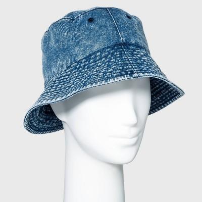 Women's Denim Bucket Hat - Wild Fable™ Denim Blue