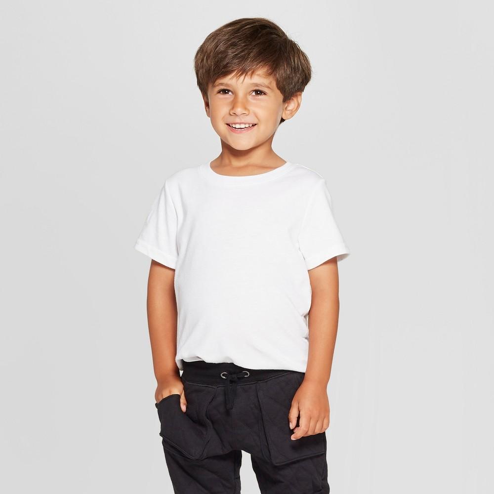 Toddler Boys Short Sleeve T Shirt Cat Jack 8482 White 3t